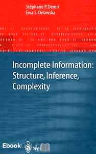 Télécharger ebook gratuit Incomplete Information: Structure, Inference, Complexity