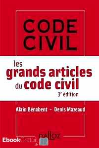 Télécharger ebook gratuit Les grands articles du code civil