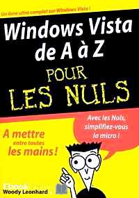 Télécharger ebook gratuit Windows Vista de A à Z